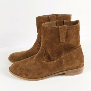 Rebecca Minkoff Leather Boho Boots Booties Brown